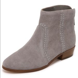 Joie   'Lucy' Suede Studded Booties Dove 39
